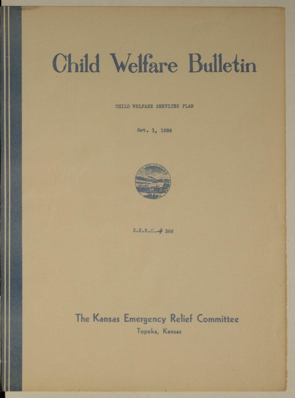 Kansas Emergency Relief Committee, bulletin 366 - 1