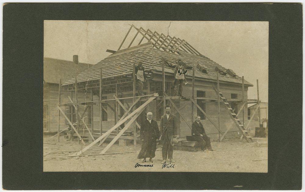 Unidentified house under construction in Sublette, Kansas - 1