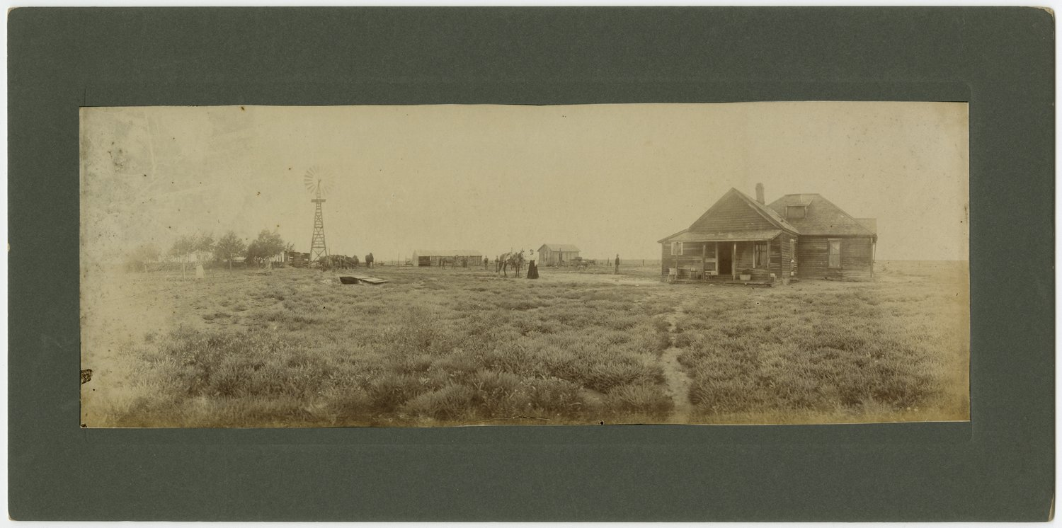 Ida Willet Davis on the Willet farm possibly in Haskell County, Kansas