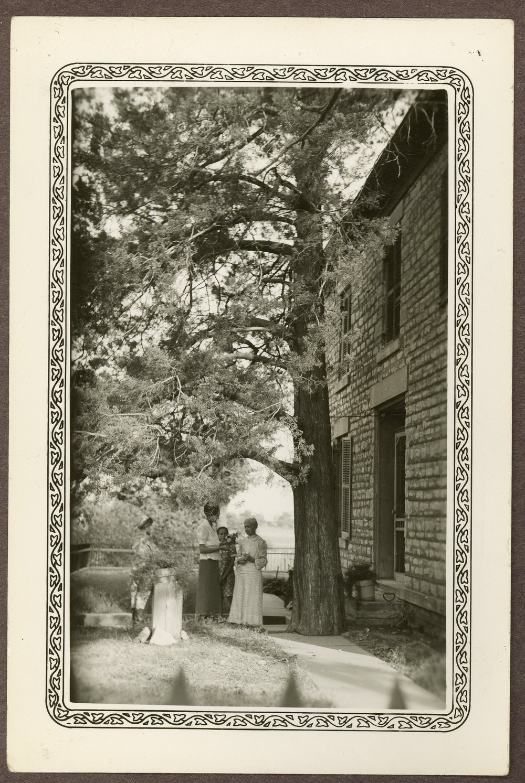 Isaac Goodnow residence, Manhattan, Kansas - 1 *12 Under an old cedar tree at the Goodnow home