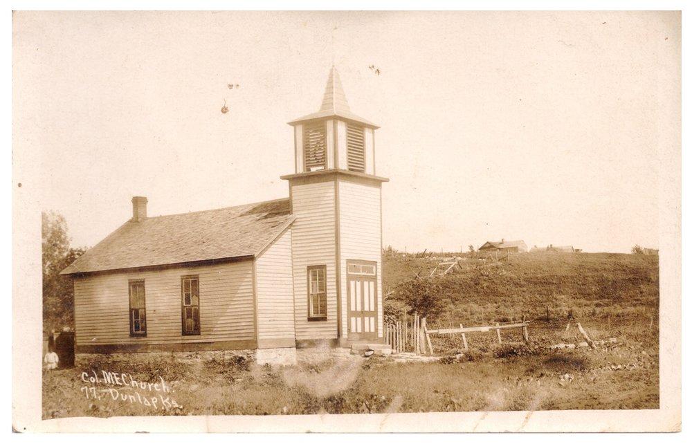 Colored Methodist Episcopal Church in Dunlap, Kansas