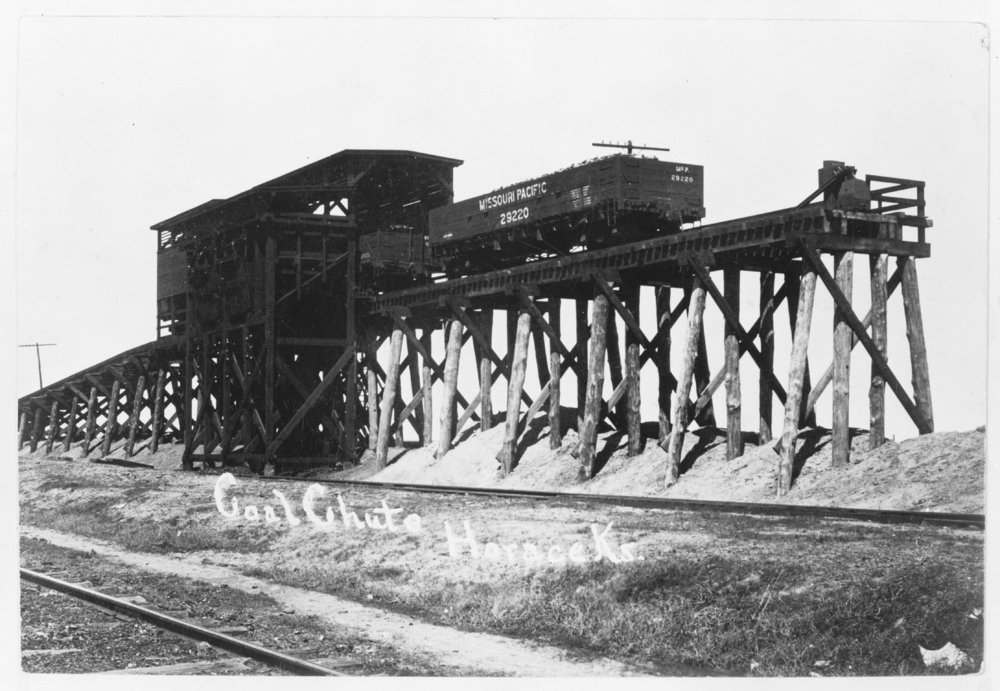 Missouri Pacific Railroad coal chute, Horace, Kansas