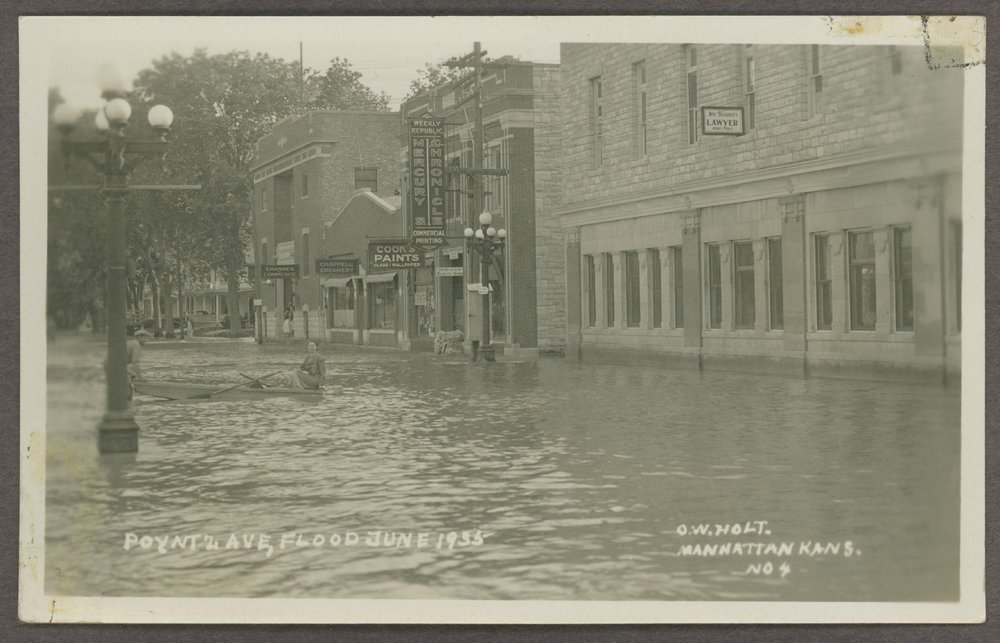 Flood scenes in Manhattan, Kansas - 1