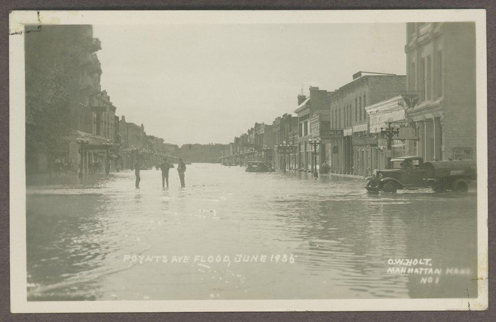 Flood scenes in Manhattan, Kansas - 3