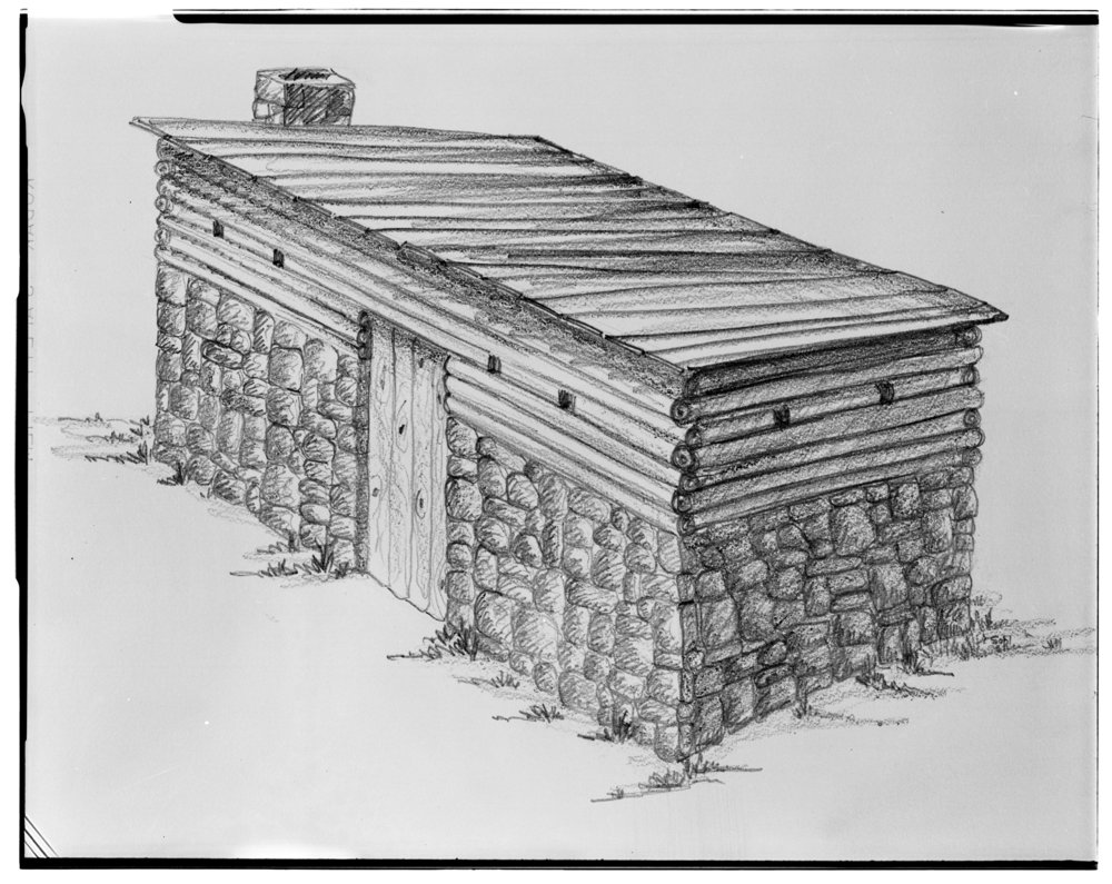 Fortified cabin built by John Brown, Linn County, Kansas