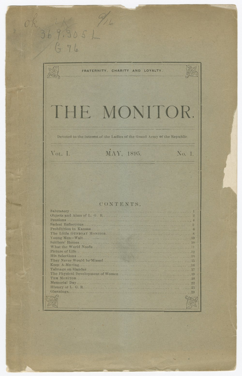 The Monitor - Front cover