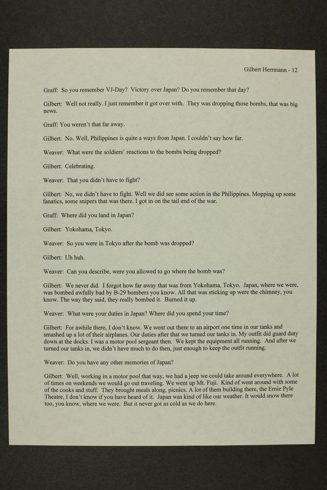 Gilbert Herrman interview, WWII oral history, Kinsley, Kansas - 12