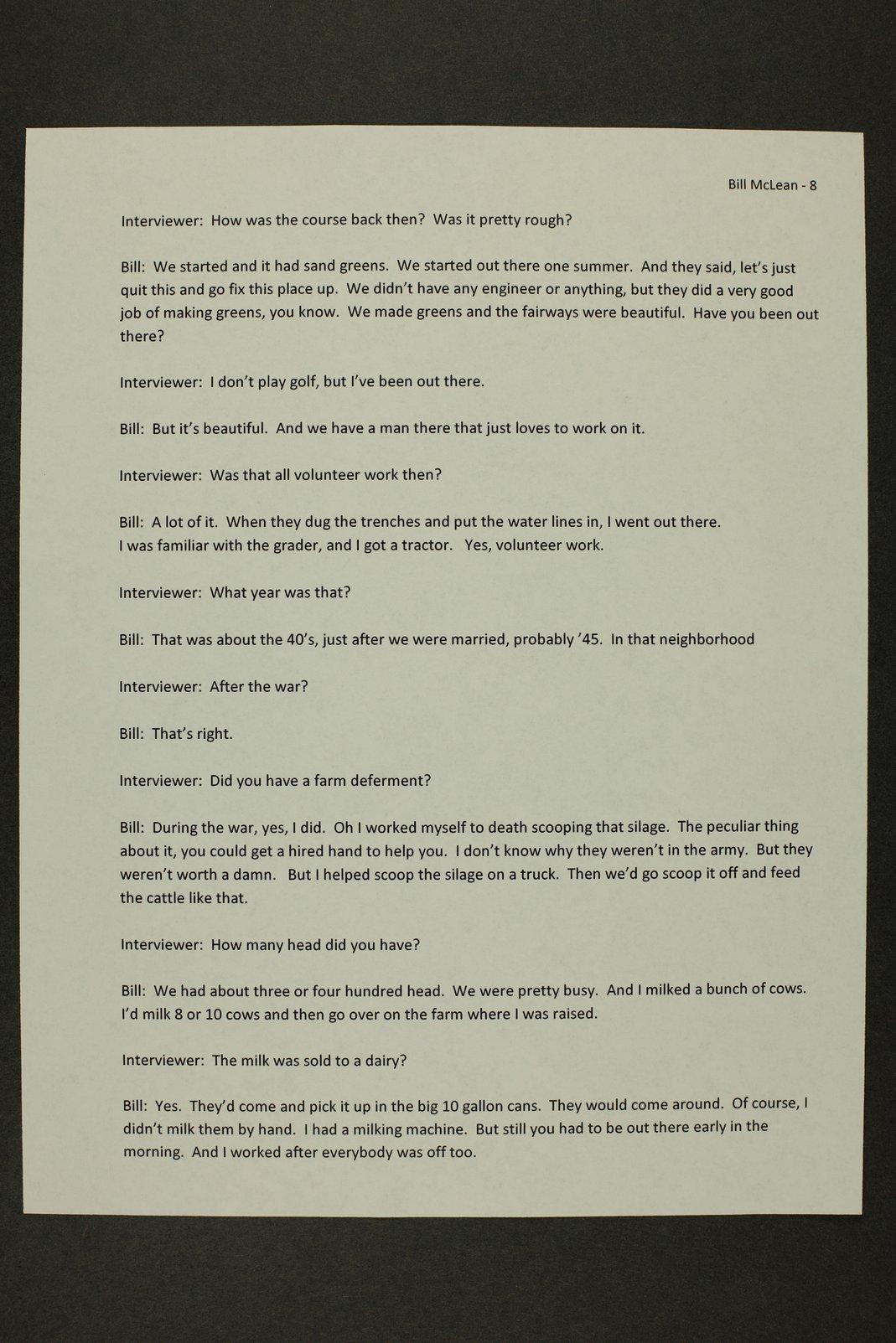 William McLean interview, WWII oral history, Lewis, Kansas - 8
