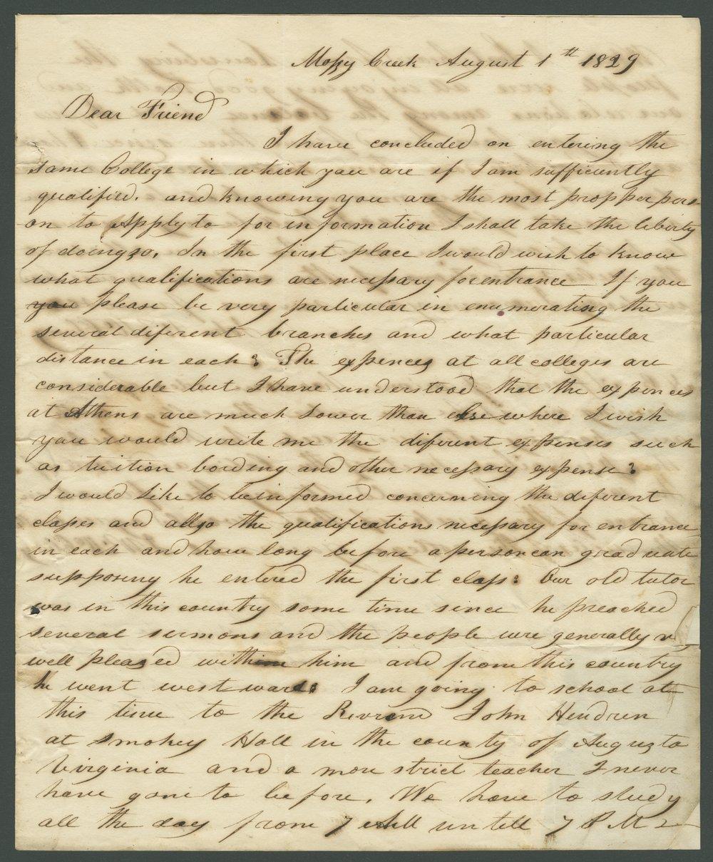 J. W. McClung to Lewis Allen Alderson - 1