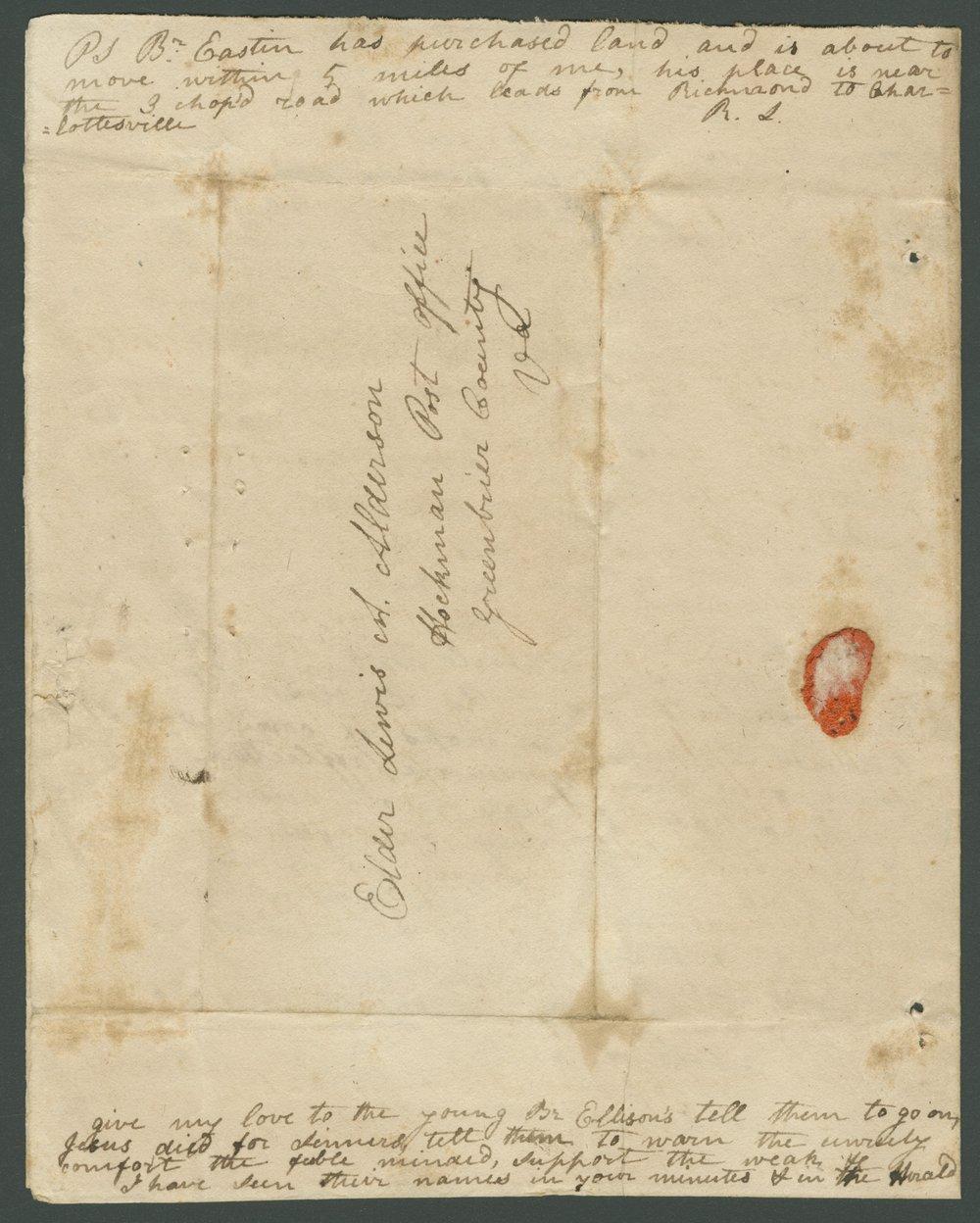 Robert Lilly to Lewis Allen Alderson - 4