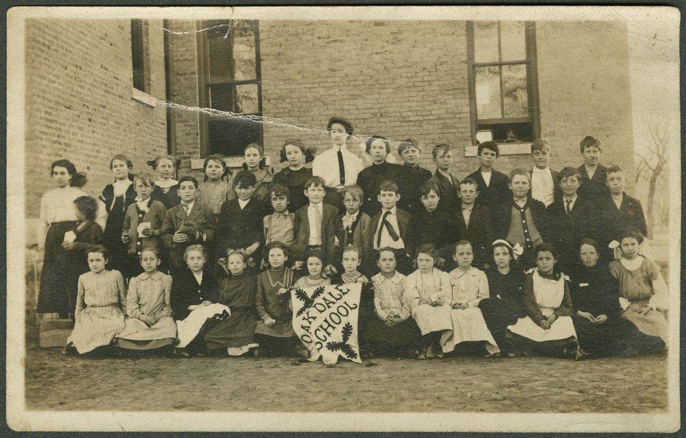Grade school children at Oakdale School in Salina, Kansas - 1
