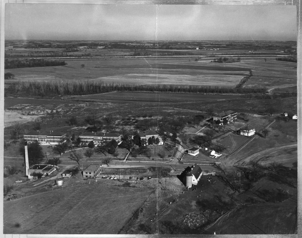 Aerial view of the Kansas Women's Industrial Farm, Lansing, Kansas