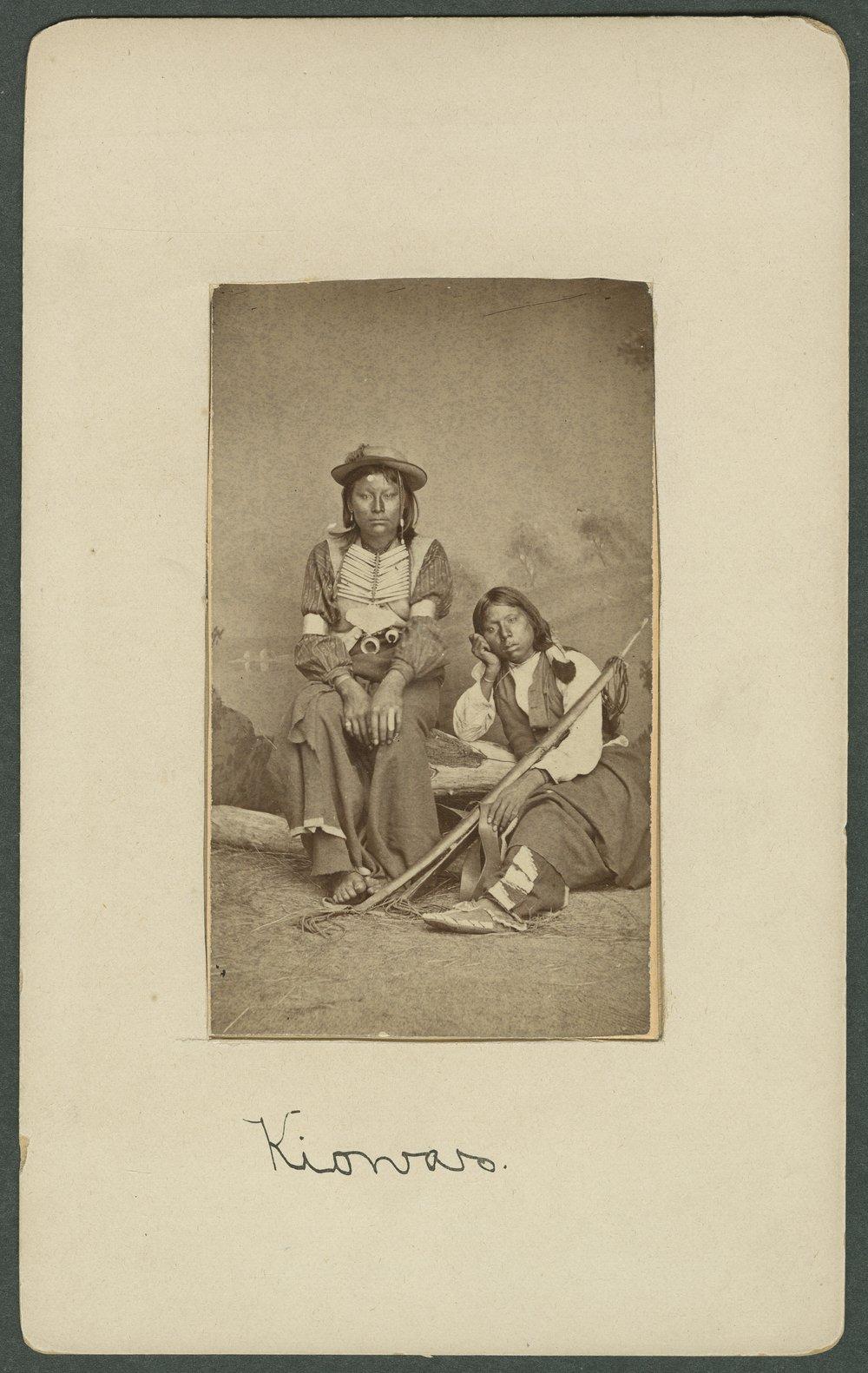Two Kiowa boys in Indian Territory - 1