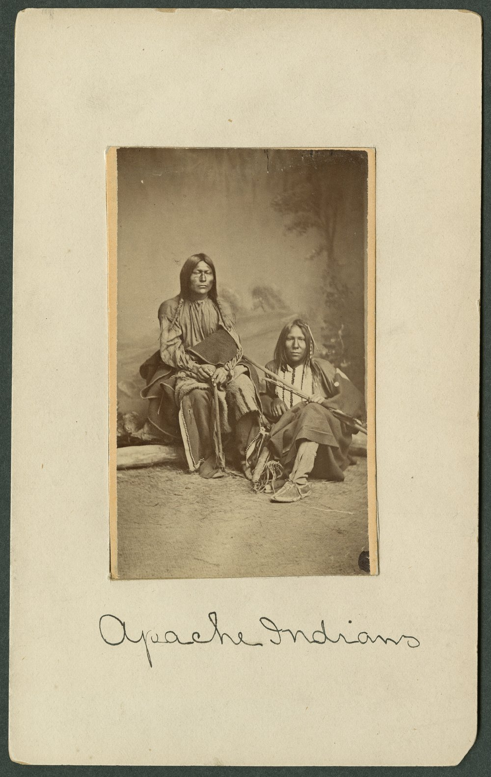 Two Apache men in Indian Territory - 1