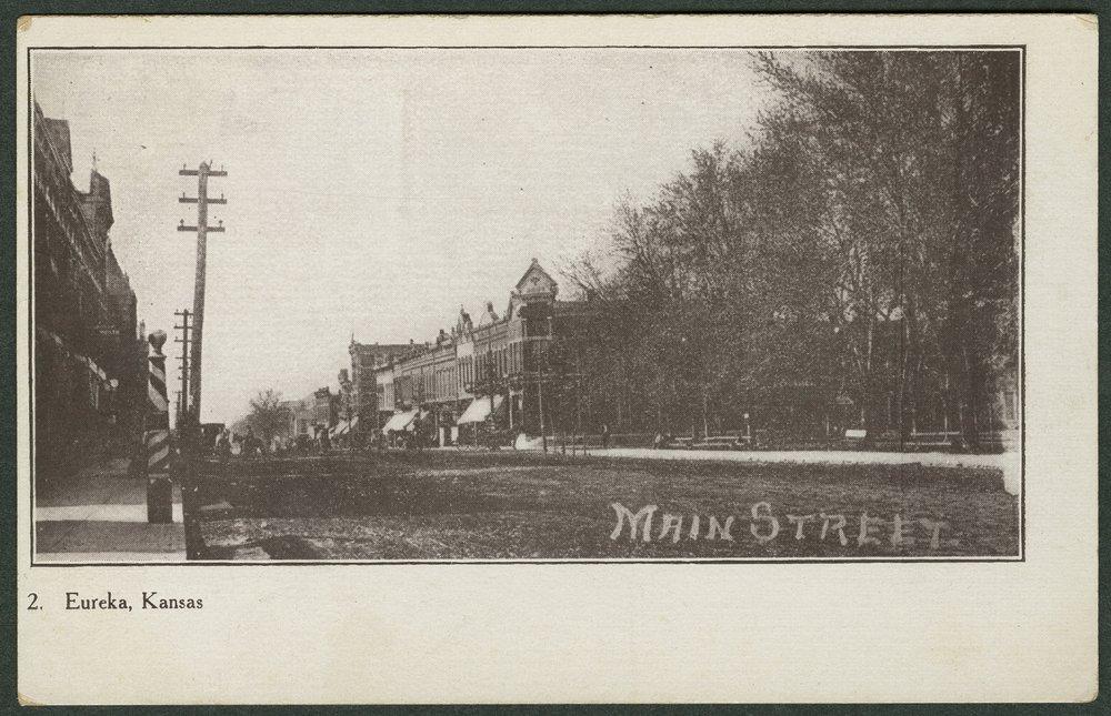 View of Main Street in Eureka, Kansas - 1
