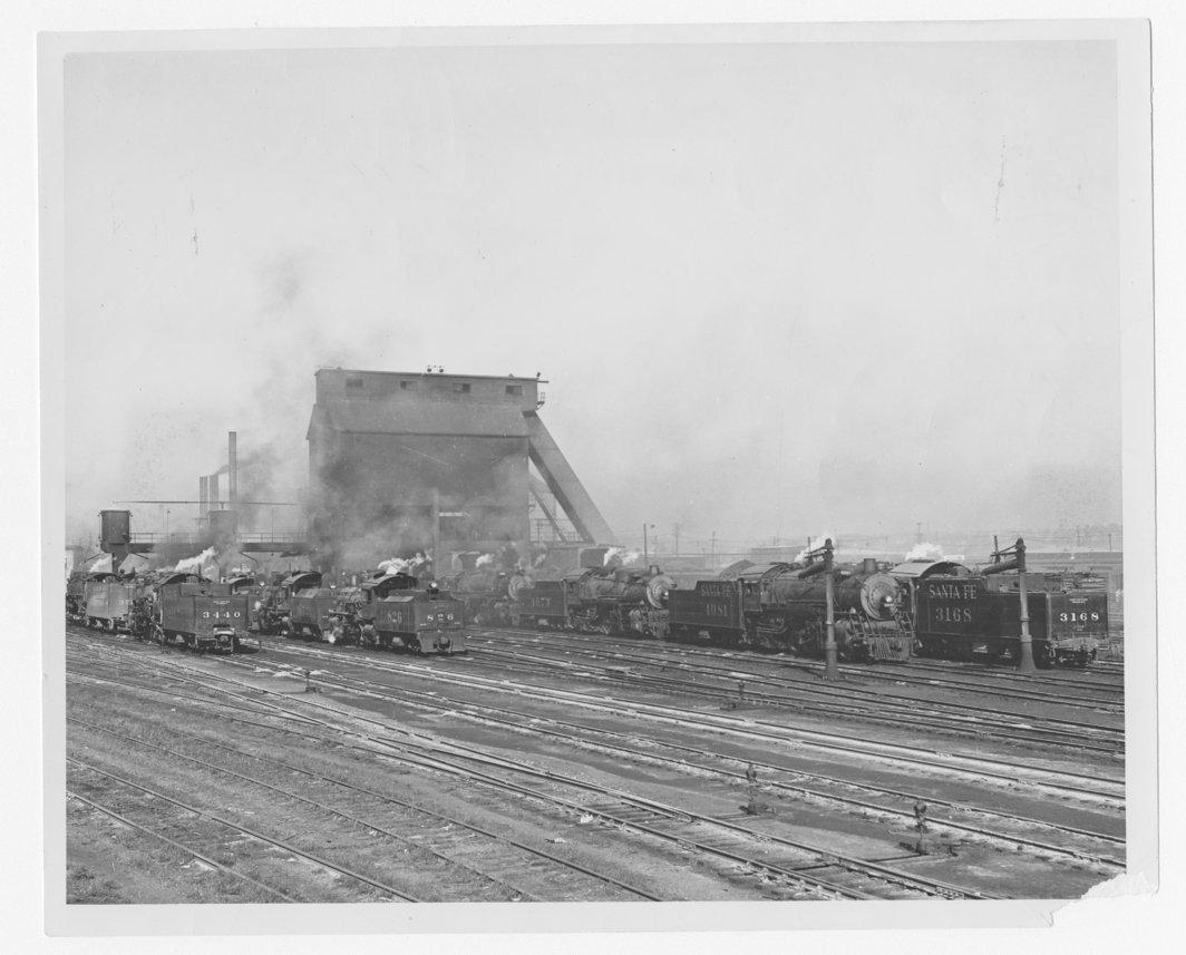 Atchison, Topeka and Santa Fe Railway Companys' switch engines, Argentine yards, Kansas City, Kansas - 1