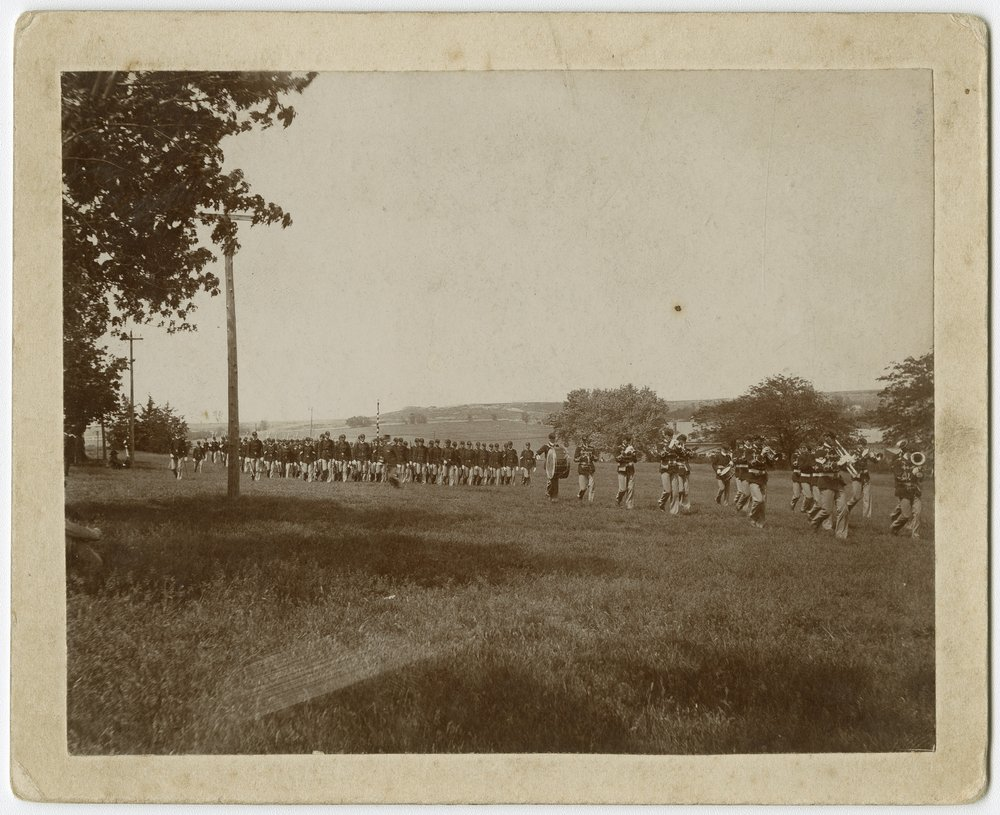 Cadets drilling at Kansas State Agricultural College in Manhattan, Kansas - 1