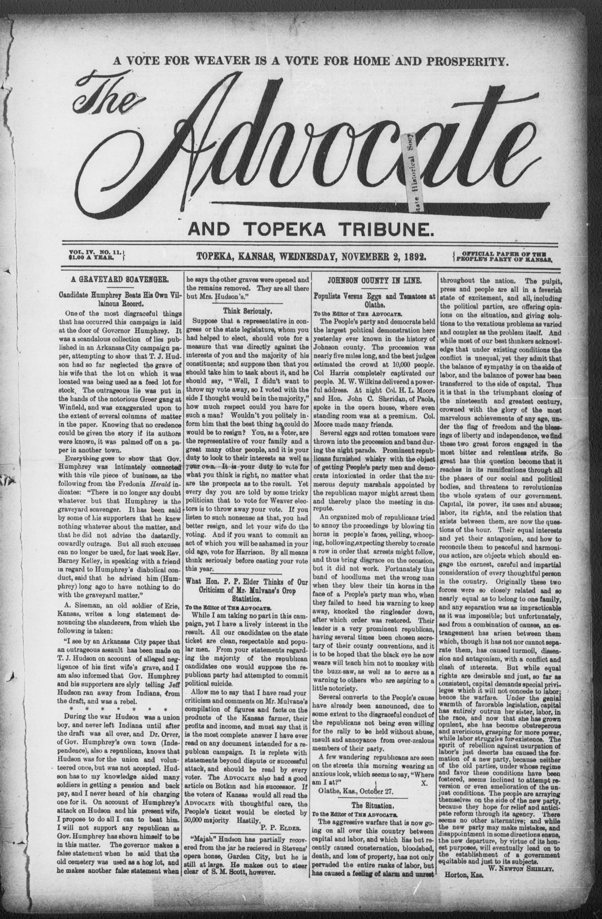 The Advocate and Topeka Tribune