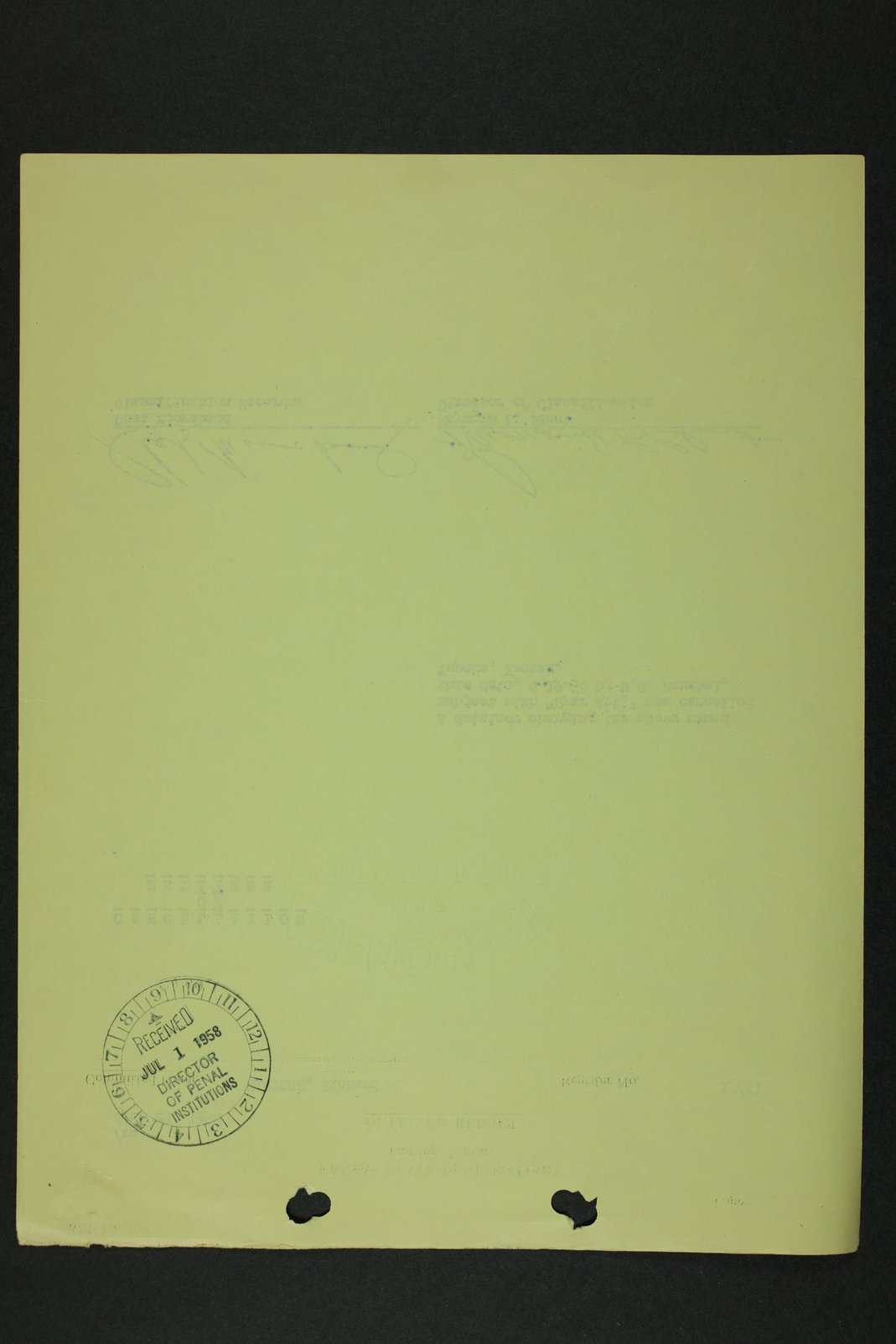 Richard Eugene Hickock inmate case file - 11
