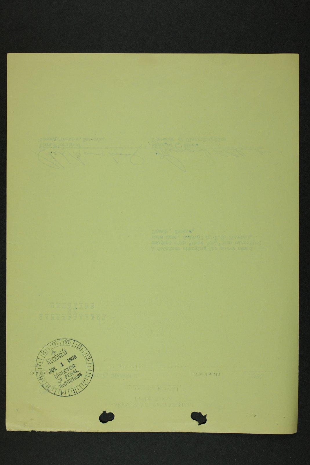 Richard Eugene Hickock inmate case file - 11