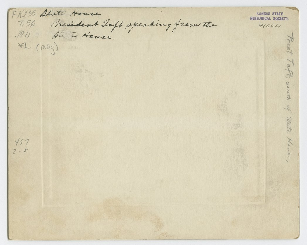 President William Howard Taft, Topeka, Kansas - 2