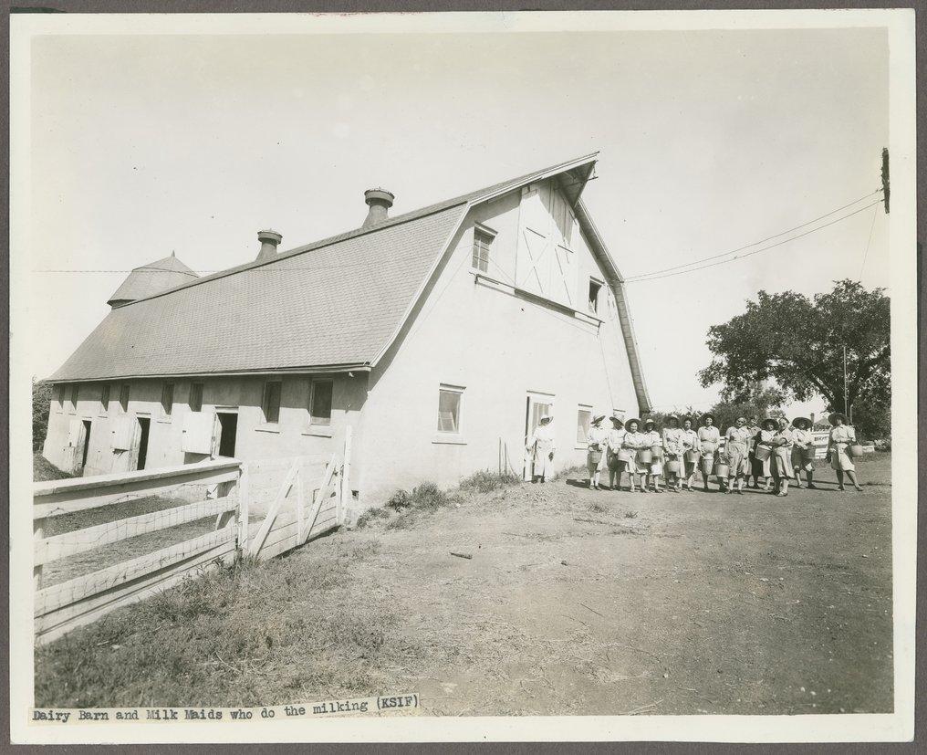 Milk maids at the Kansas Women's Industrial Farm, Lansing, Kansas