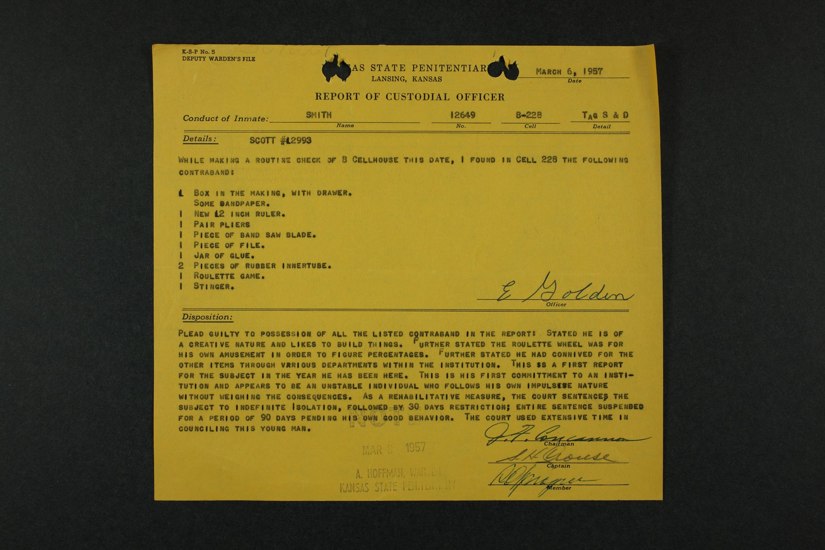 Perry Edward Smith inmate case file - 7