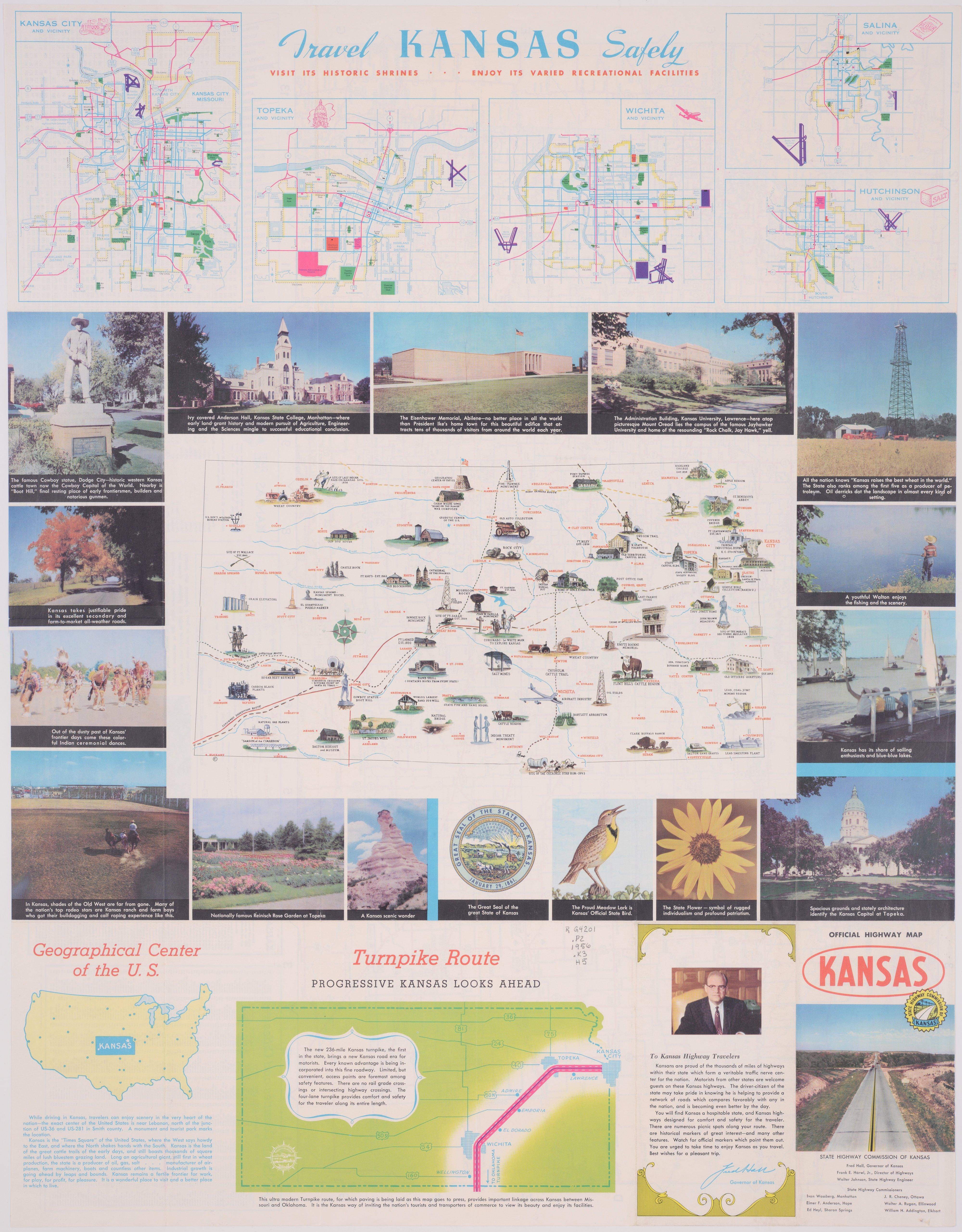 Official Kansas Highway Map Kansas Memory Kansas - Kansas highway map