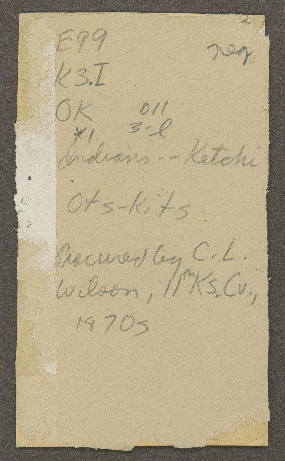 Ots-Kits, Kichai tribe, in Indian Territory - 2