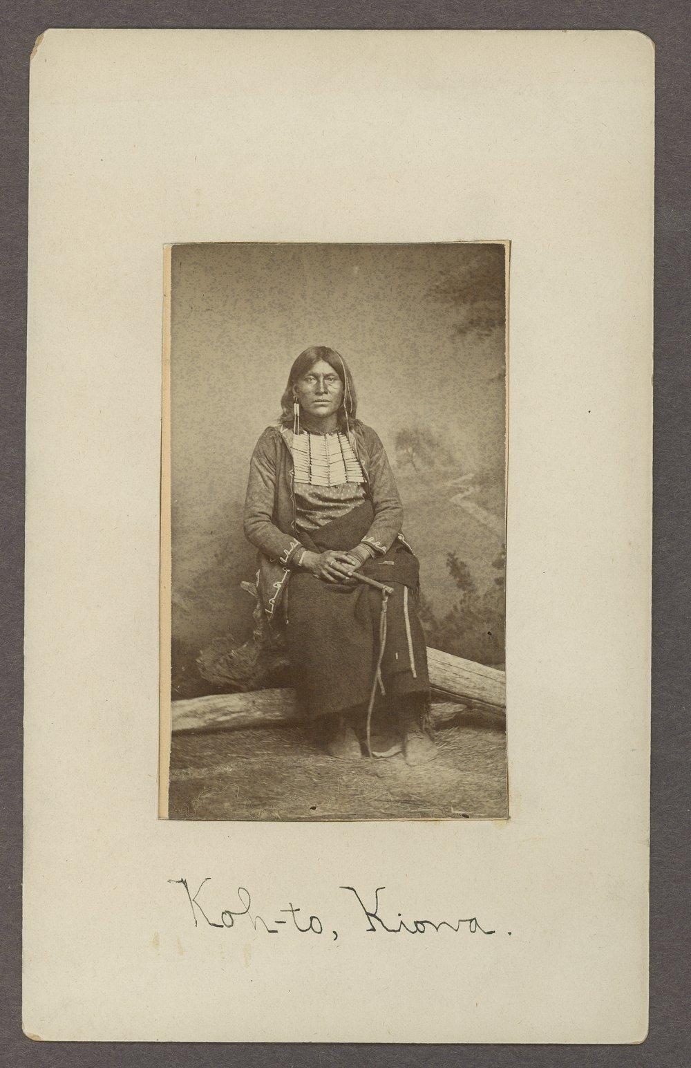 Koh-to, Kiowa brave, in Indian Territory - 1