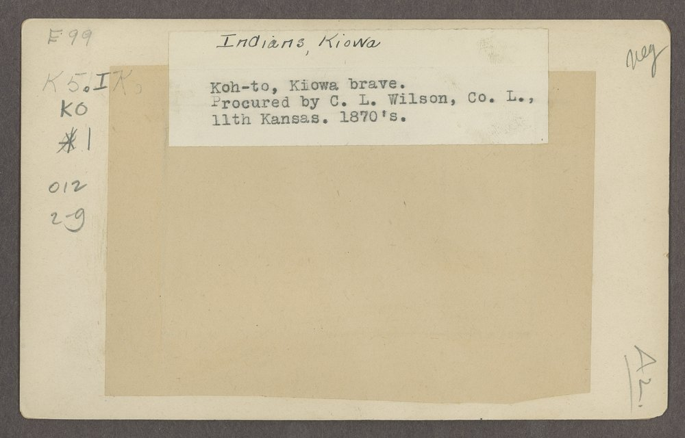Koh-to, Kiowa brave, in Indian Territory - 2
