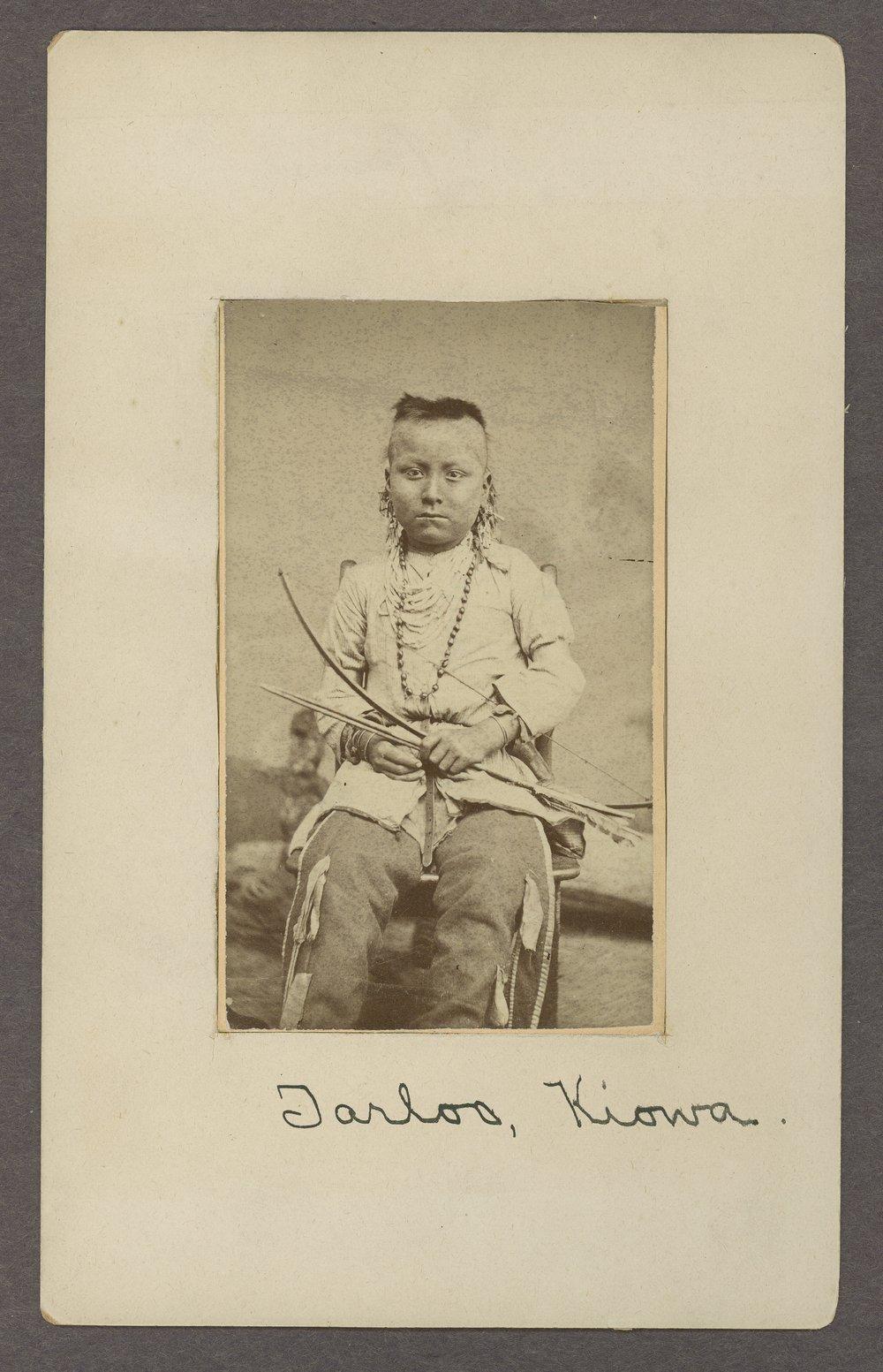 Tar-loo, Kiowa boy, in Indian Territory - 1