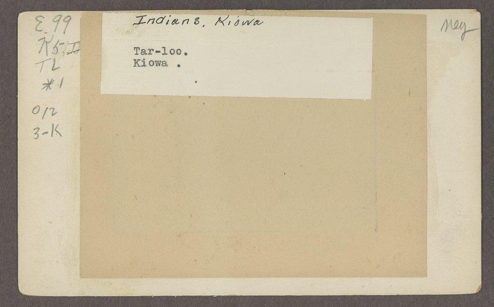 Tar-loo, Kiowa boy, in Indian Territory - 2