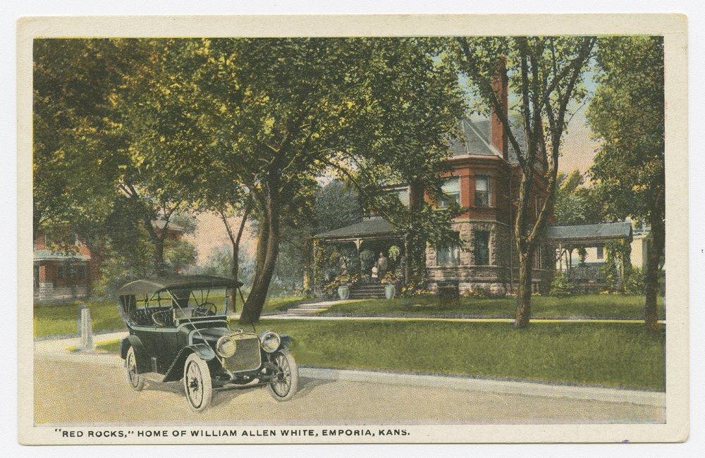 "Views of ""Red Rocks,"" home of William Allen White, Emporia, Kansas - 1"