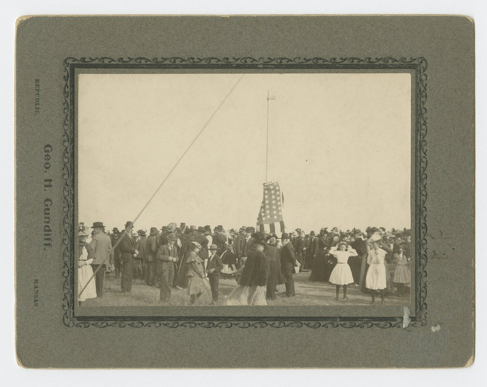 Unveiling the Pike monument at Pawnee Village, Republic County, Kansas - 1
