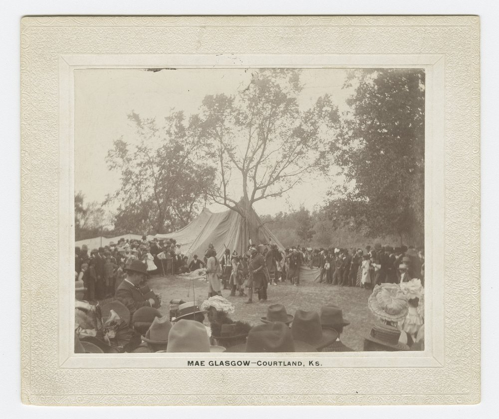 Indian dance and celebration at Pawnee Village, Republic County - 1