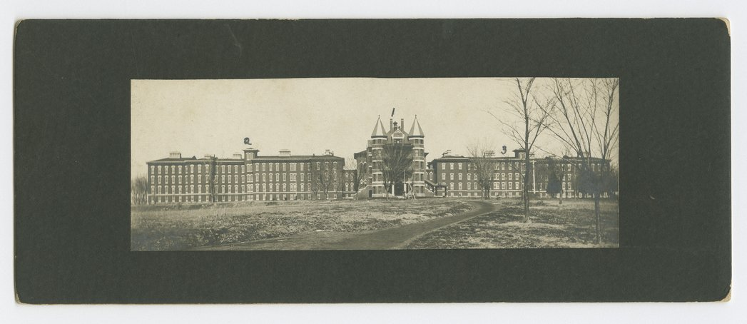 Front views of the Osawatomie State Hospital, Osawatomie, Kansas - *4 front
