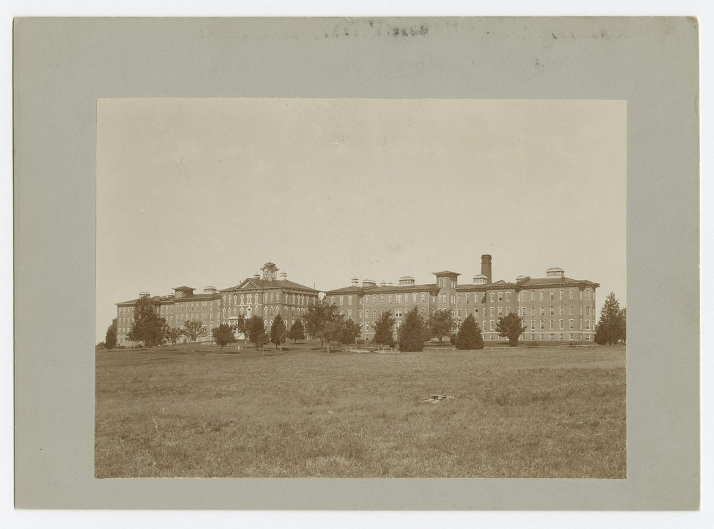 View of the main building at the Osawatomie State Hospital, Osawatomie, Kansas - 1