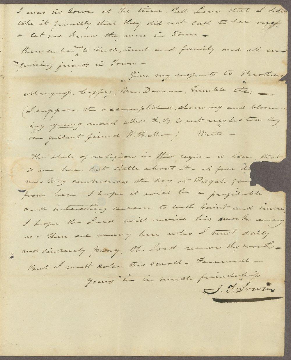 I. T. Irwin to Lewis Allen Alderson - 3