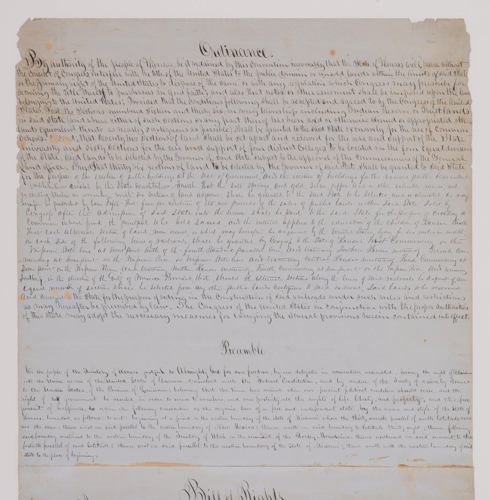 Leavenworth Constitution - 1