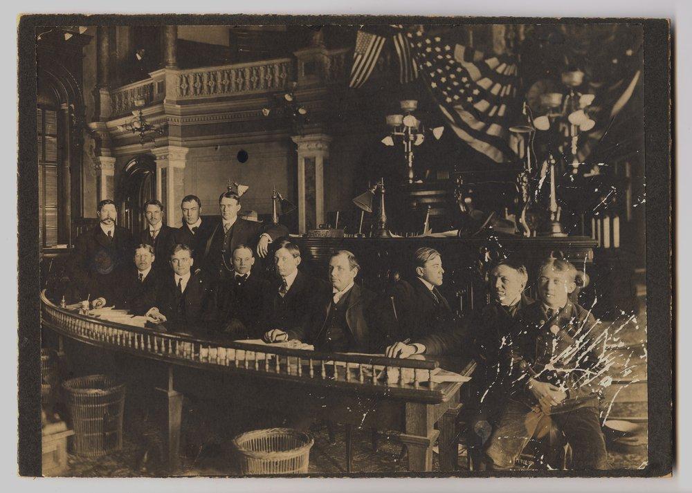 Legislative reporters at the Capitol - 2