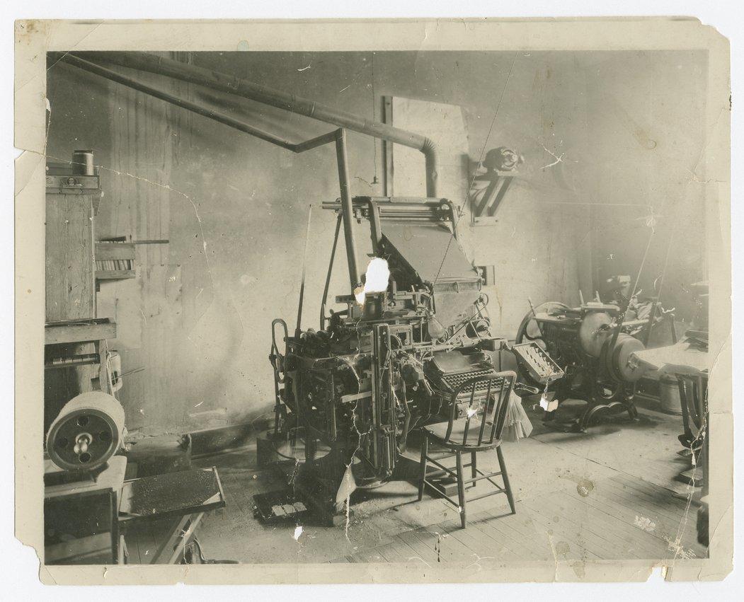 Possible Lecompton Sun printing press and office, Lecompton, Kansas - 1