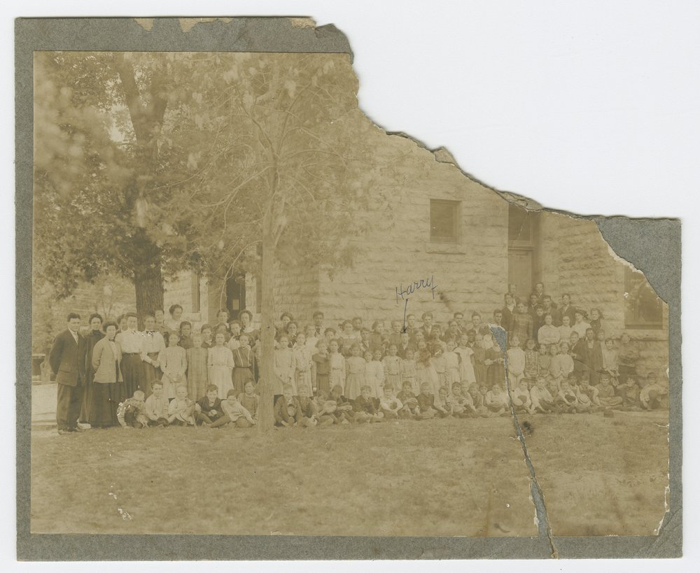 Students and teachers, Lecompton, Kansas - 1