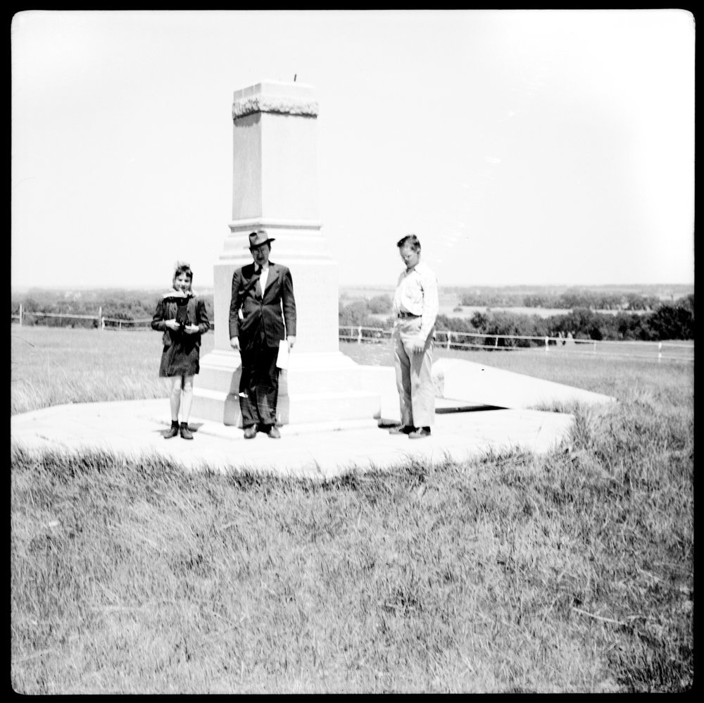 Damage to the Pike Pawnee monument in Republic County, Kansas - 1