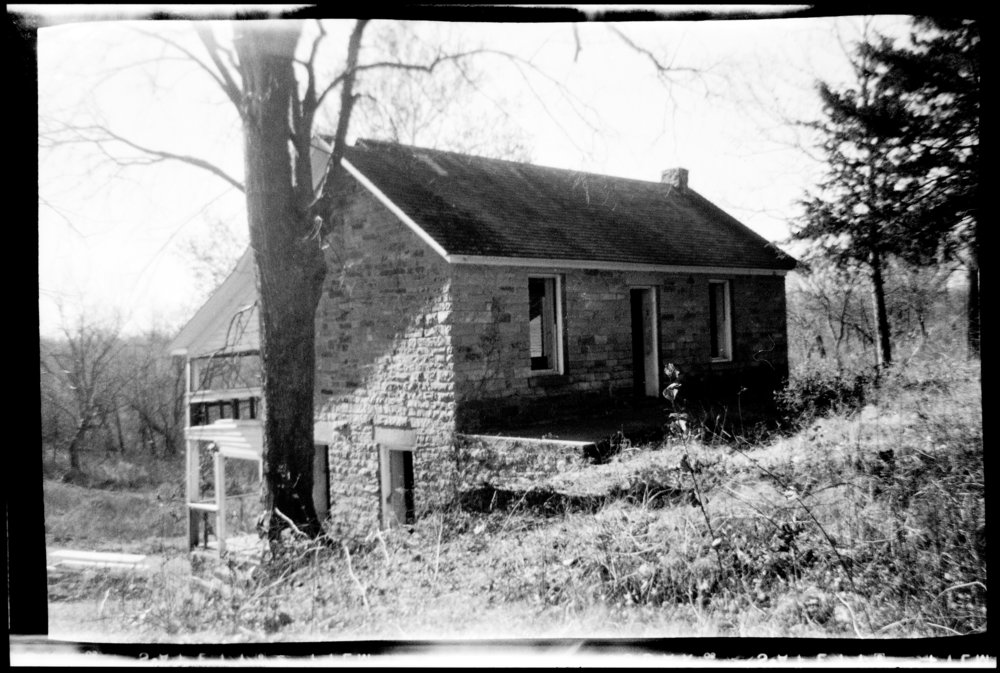Views of the stone house on the site of John Brown's fort, Linn County, Kansas - 1