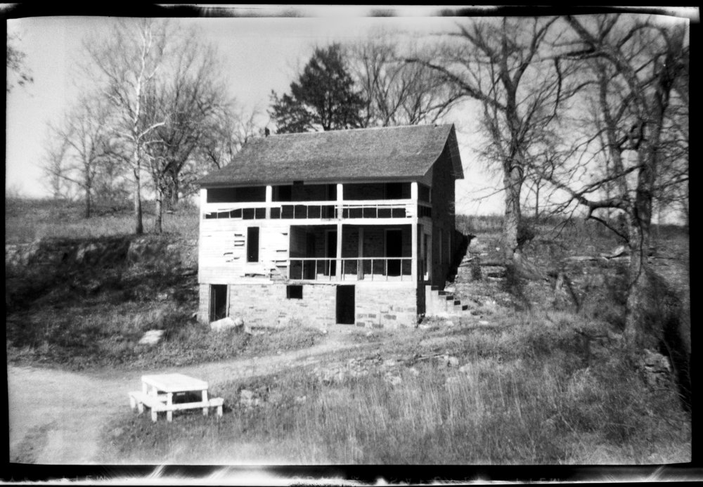 Views of the stone house on the site of John Brown's fort, Linn County, Kansas - 4