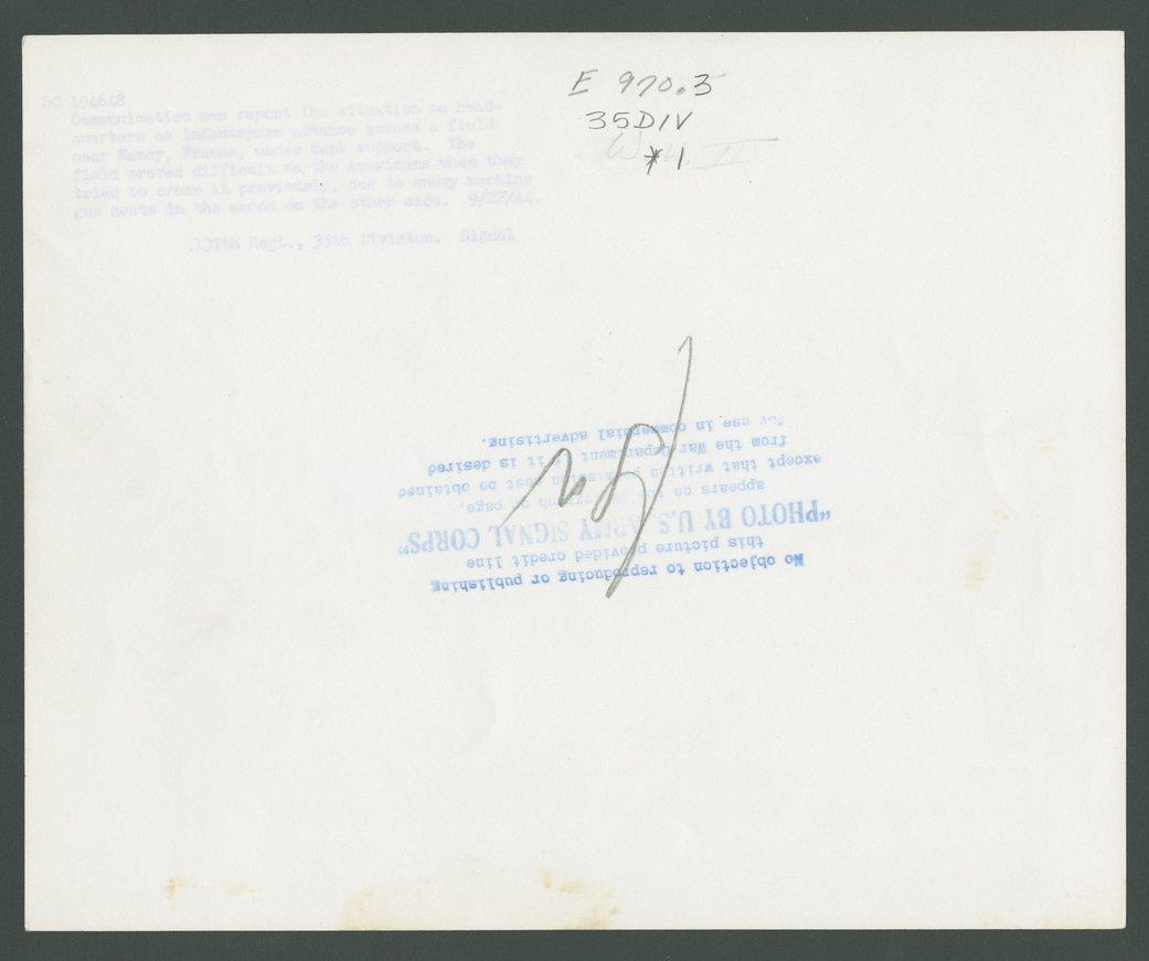 137th Intantry Regiment, 35th Division, Nancy, France - 2