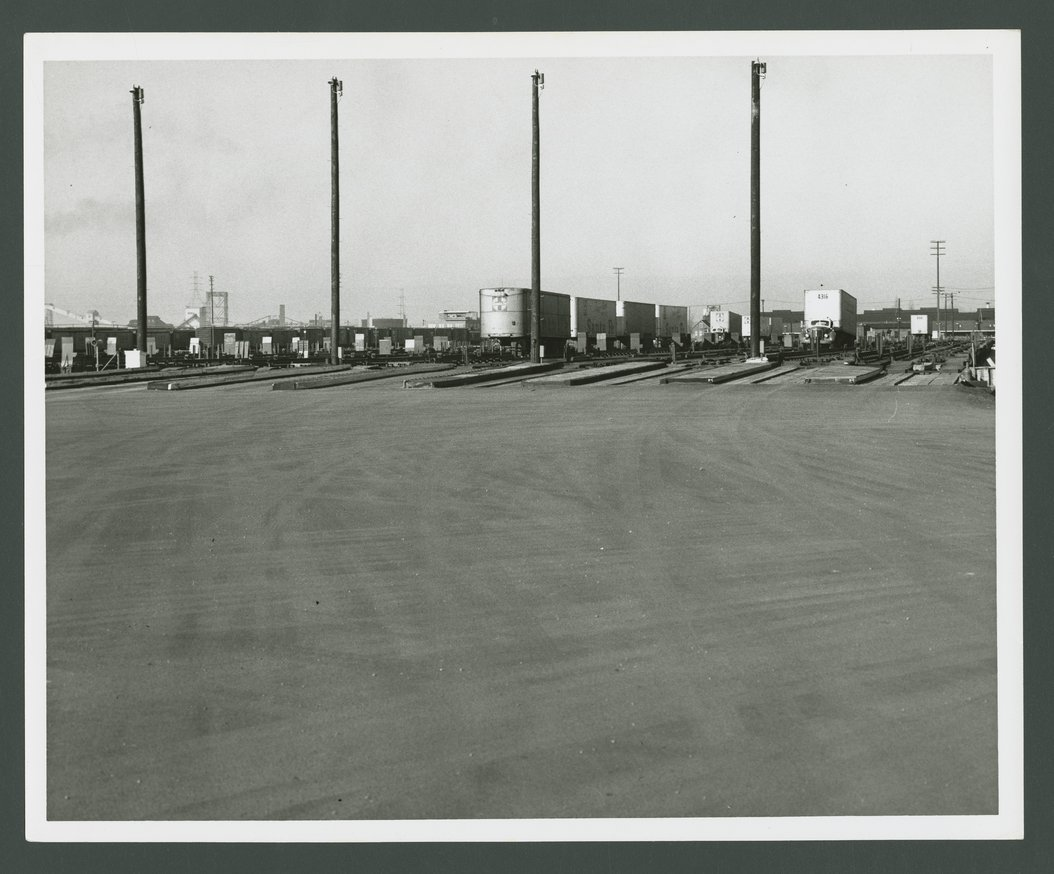 Atchison, Topeka & Santa Fe Railway Company's circus loading facility.