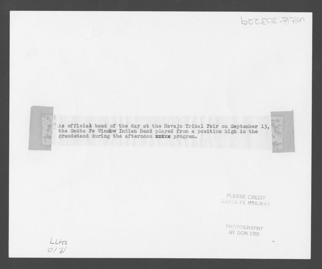 Atchison, Topeka and Santa Fe Railway Company band, Window, Arizona - 2