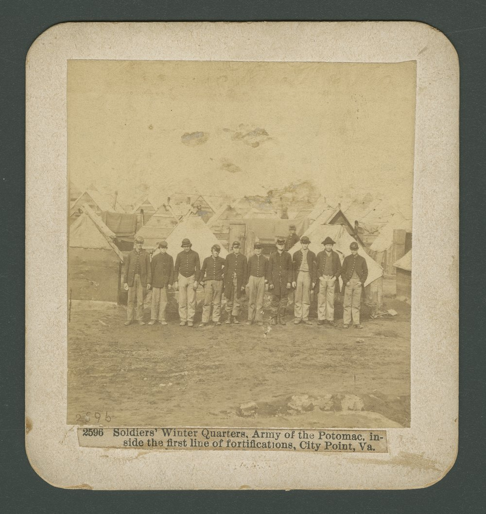 Soldiers' winter quarters at City Point, Virginia - 1